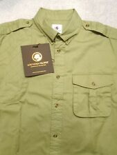 Southern Proper 100% Cotton Shooting Sport Shirt NWT Medium $125 Olive Green