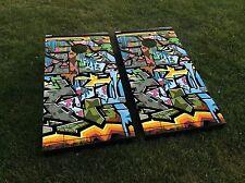 Colorful Graffiti Art Cornhole Set - Regulation Size - Cornhole Bags Included