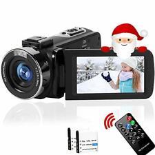 Camcorder Full HD 2.7K 42MP 18X Digital Zoom Video Camera for YouTube black