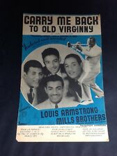 Partition - Louis Armstrong - Mills Brothers - Carry me Back - P1