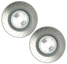 Pair Set of 2 Front OEM Vented Brake Disc Rotors 390 mm for Mercedes C216 W221