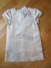 Toddler girl Gymboree SHINY GOLD METALLIC BROCADE PARTY DRESS NWT 18m 24m