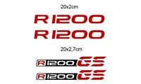 KIT 4 ADESIVI BMW R 1200 STICKER DECAL BMW R 1200 GS  GP-049 (Rosso)