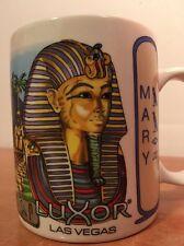 Mug Luxor Vegas Coffee Cup Casino Egyptian Mary Vintage Ceramic Pyramids 12 oz