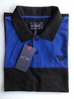 New Mens Armani Jeans Polo T-shirts Short Sleeve Black Size XXL RRR £120.00
