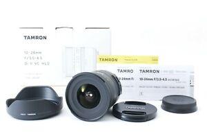 Tamron 10-24mm F/3.5-4.5 Di II VC HLD B023 for Canon [Mint] w/Box,Hood [Y123]