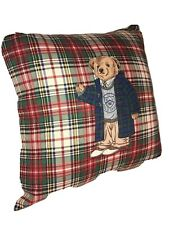 Teddy Bear Pillow Ralph Lauren Polo Plaid with insert Vintage