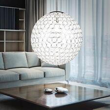Design Kugel Pendel Hänge Lampe Chrom Kristalle rund Wohnzimmer Beleuchtung E27