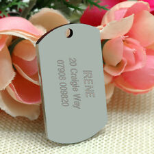 Military Dog Tags Army Personalised Pet Tag Custom Free Name Text Engraved Free