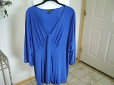 Susan Lawrence 3/4 Sleeve Periwinkle Blue Size 2X Top