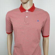Hackett London Mens Polo Shirt Pique Red White Striped Top XXL New RRP£110
