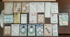 Vintage Lot Mother of Pearl  Button Cards Lucky Day, Lady Washington & More