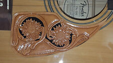 Leather pick guard Acoustic Guitar Custom Hand Tooled Leather  daisy's