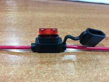 Inline Blade Fuse Holder - 10 AMP Standard - 12 AWG Wire & Free 10 AMP Fuse x 1