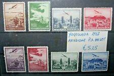 FRANCOBOLLI YUGOSLAVIA 1937 AVIAZIONE P.A. SERIE NUOVA MNH** SET (C.SM)