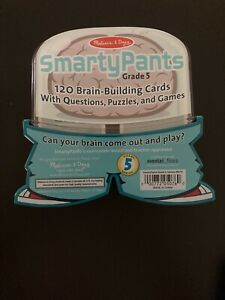 UNOPENED NEW Smarty Pants GRADE 5 Home Schooling Brain Building Game Card Set