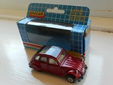 Edocar EM-2 Citroen 2CV in red, early 1990s vintage, mint condition, boxed