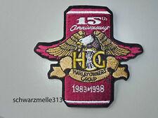HARLEY DAVIDSON HOG petto-O. MANICHE PATCH 15 years Member NUOVO!