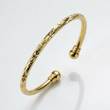 Women's Open Bangle Bracelet 18k Yellow Gold Filled Fashion Jewelry