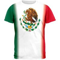 Cinco De Mayo - Mexican Flag All Over Adult T-Shirt