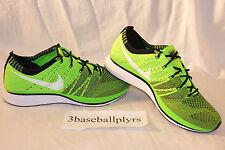 Nike Flyknit Trainer SIZE 6 - NEW DEADSTOCK - 532984-301 Green Black White