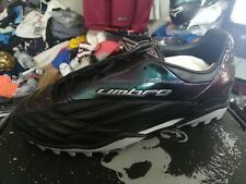 UMBRO synthesiseblack ASTRO trainerst in faux  LEATHER size 7 uk at £15