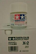 Tamiya acrylic paint X-2 White. 23ml.