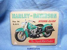 Harley Davidson Hydra Glide Advertising Magnet NEW Garage Motorbike Present Gift