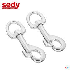 2x Swivel Eye Snap 104 Mm Marine Hook Dog Chain Clip Hiking Travel Bag Key Ring