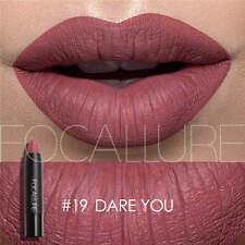 25Color FOCALLURE Long Lasting Waterproof Matte Lipstick Liquid Gloss Cosmetic F