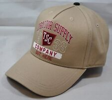 NEW Tractor Supply Company Out Here Beige Adjustable Baseball Cap Hat One Size