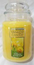 Yankee Candle FLOWERS IN THE SUN Large Jar 22 Oz Housewarmer Yellow New Label