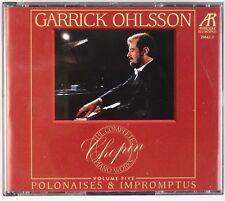 GARRICK OHLSSOHN: Chopin Polonaises & Impromptus Piano ARABESQUE Box 2x CD