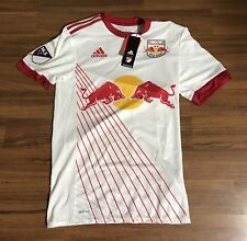 Adidas MLS New York Red Bull Authentic Climacool Soccer Jersey Mens Sz Medium