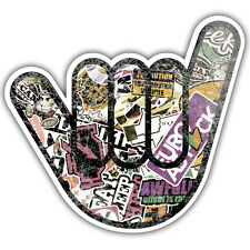 no worries grunge distressed hand sticker 95 x 80mm ratlook vw dub: mr oilcan