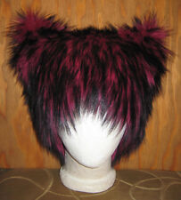 PINK CHESHIRE KITTY PUSSY CAT FUR HAT WONDERLAND ANIME BURNER WIG WOMANS RIGHTS