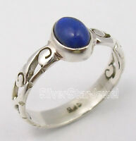 925 Sterling Silver Beautiful CABOCHON Lapis Lazuli TIBETAN CELTIC Ring Any Size