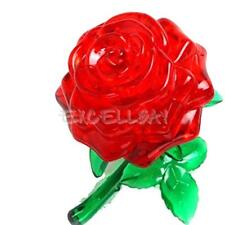 Crystal Furnish Red Rose Cube Block Jigsaw Puzzle Cute Souptoys 3D IQ Gadget E0X