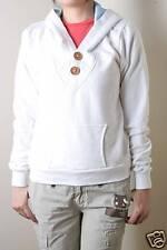 Paul Frank Wooden V Neck Pullover Hoodie (M) White