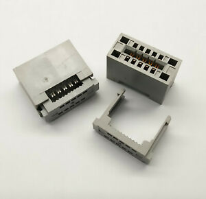 2 PCS. 10-Pin Card Edge Female IDC connector 2.54mm pitch flat ribbon cable grey