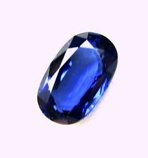 2.10 Carats Natural Loose Gem Oval Blue Ceylon Sapphire  9.4x5.8x3.7 MM  LxWxD
