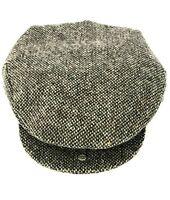 Donegal Grey Tweed Vintage Flat Cap Handmade in Ireland
