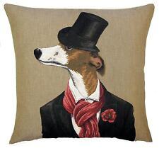 whippet pillow cover - whippet lover gift - whippet decor - tapestry cushion