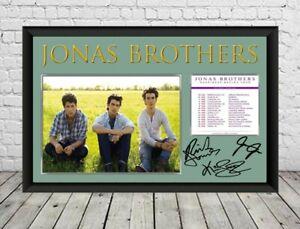 Jonas Brothers Signed Photo Print Autographed Poster Memorabilia