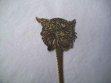 Vintage Solid Brass Letter Opener Handmade-WILD CAT HEAD ANIMAL DESIGN