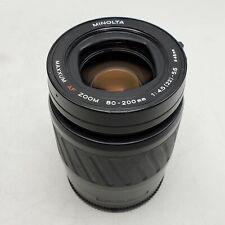 Minolta Maxxum AF 80-200mm F4.5-5.6 Zoom Lens for Maxxum Sony Alpha A Mount