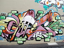 Framed Canvas Print  Banksy wall painting decor  street art graffiti urban