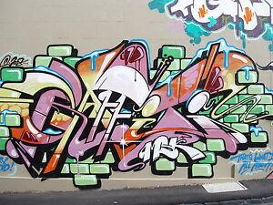 Framed Canvas Print  wall painting decor  street art graffiti urban licensed