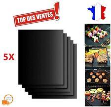 5X Tapis de cuisson anti-adhésif pour Grill Barbecue Four en Téflon Réutilisable