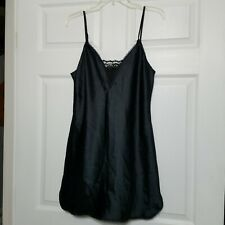Warners Vintage Dress Slip ~Sz 34 ~ Black ~ Adjustable Straps ~ Above Knee